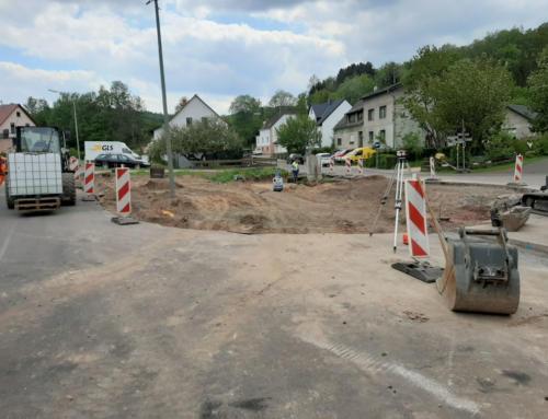 Neugestaltung Haltestelle Buchwaldstraße und Einmündungsbereich hat begonnen