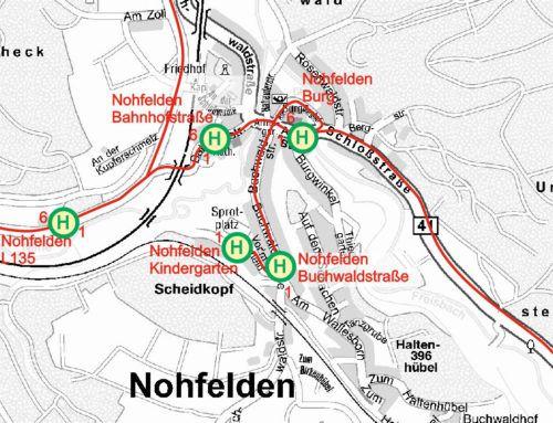 """Haltestelle """"Nohfelden Buchwaldstraße"""" nicht erreichbar"""