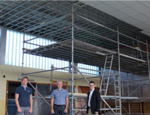 Sanierungs- und Modernisierungsmaßnahmen in der Mehrzweckhalle in Sötern in vollem Gange