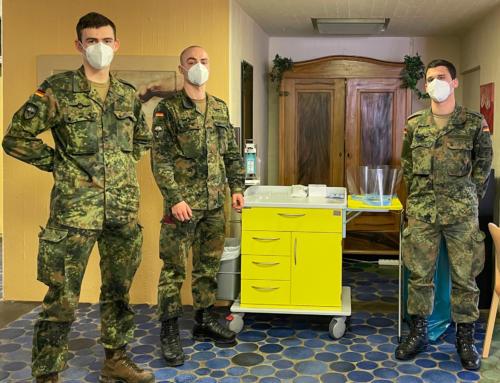 Bundeswehr hilft in den Seniorenheimen in der Gemeinde