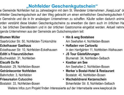 """""""Nohfelder Geschenkgutschein"""""""