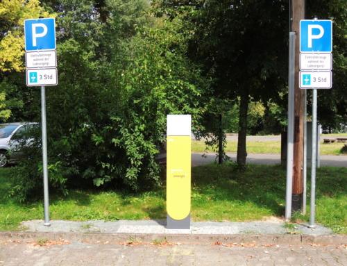 Neue Ladesäule für Elektrofahrzeuge