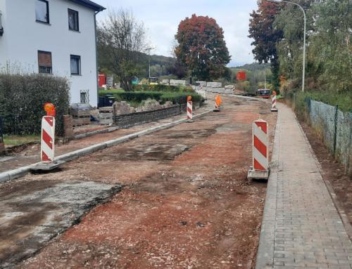 Straßenarbeiten in der Gemeinde